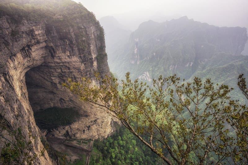 Paisagem e ponto de vista da montanha de Tianmen fotos de stock royalty free