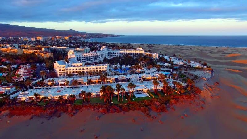 Paisagem e vista de Gran Canaria bonito em Ilhas Canárias, Espanha imagem de stock