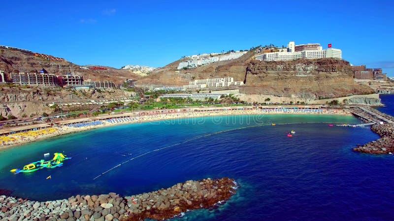 Paisagem e vista de Gran Canaria bonito em Ilhas Canárias, Espanha fotos de stock royalty free