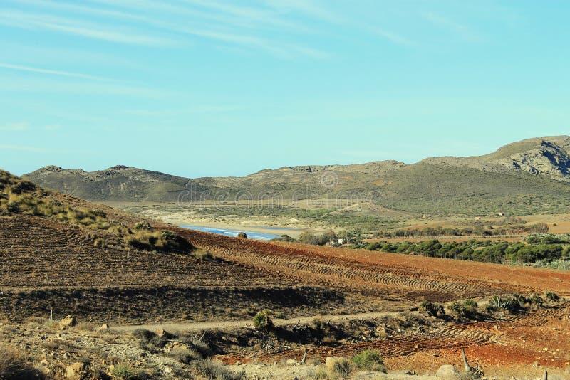 Paisagem em Cabo de Gata fotos de stock royalty free