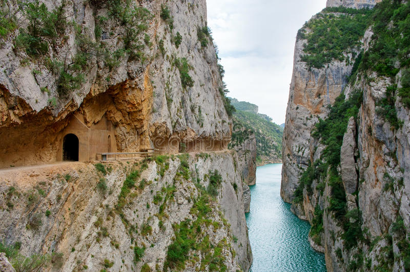 Paisagem em Congost de Mont-rebei, Espanha foto de stock royalty free