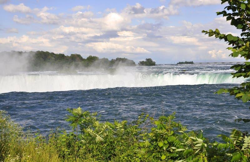 Paisagem em ferradura aérea de Niagara Falls do lado canadense imagem de stock royalty free