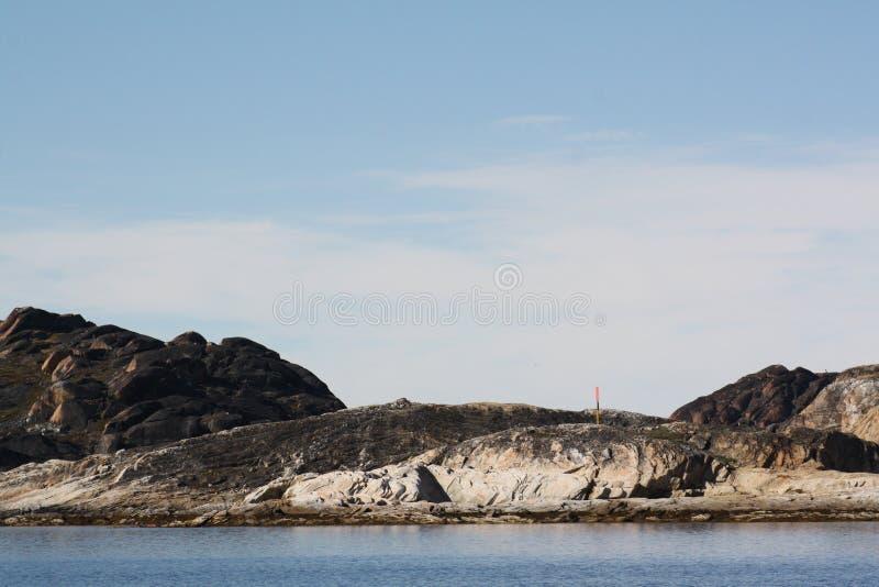 Paisagem em Gronelândia fotografia de stock