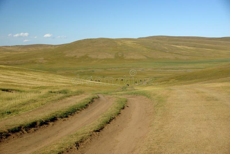 Paisagem em Mongolia imagens de stock royalty free