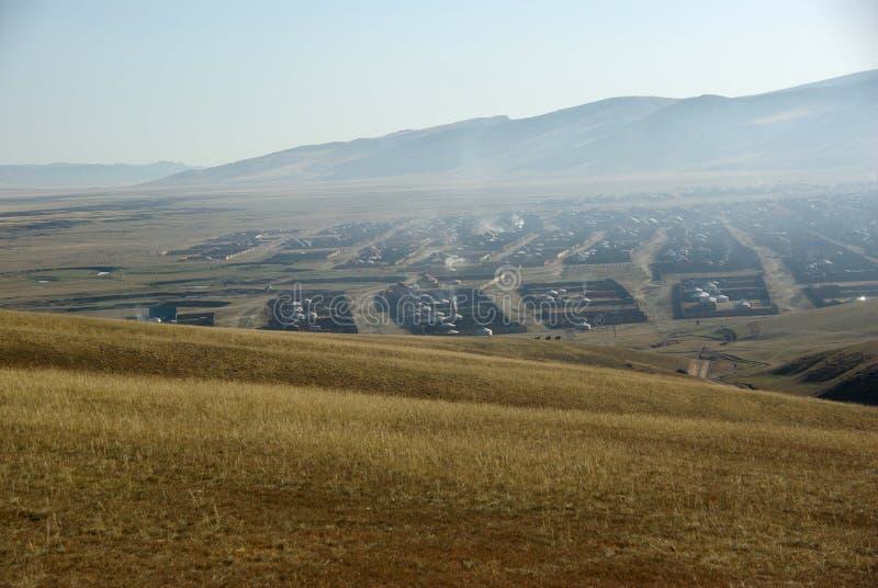 Paisagem em Mongolia imagens de stock