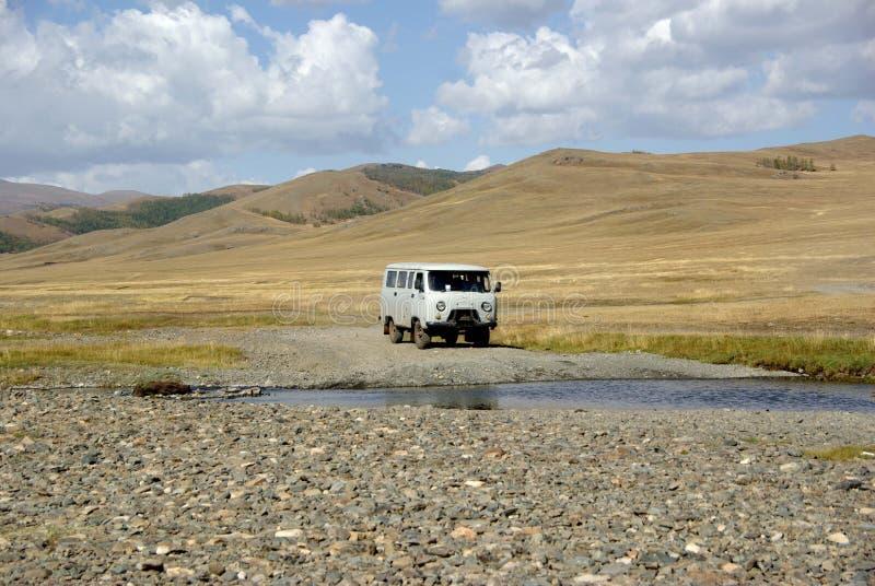Paisagem em Mongolia foto de stock
