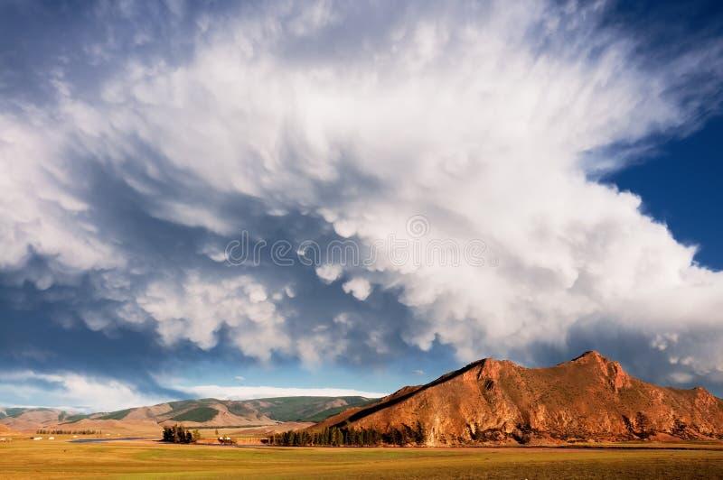 Paisagem em Mongolia do norte foto de stock