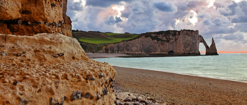 Paisagem Em Normandy Fotografia de Stock