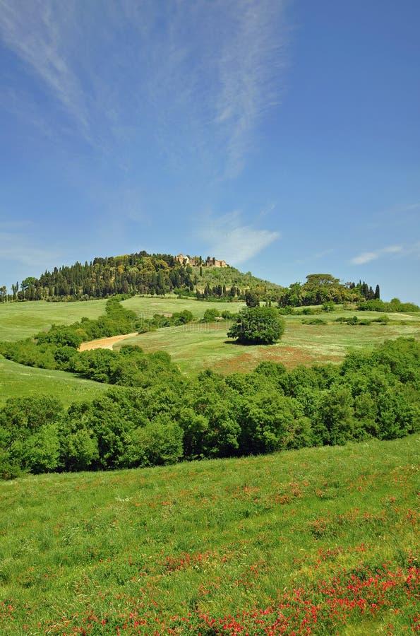 Paisagem em Toscânia, San Gimignano, Toscânia imagens de stock royalty free