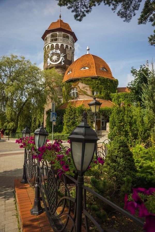 Paisagem em Zelenogradsk, região da cidade de Kaliningrad, Rússia foto de stock royalty free