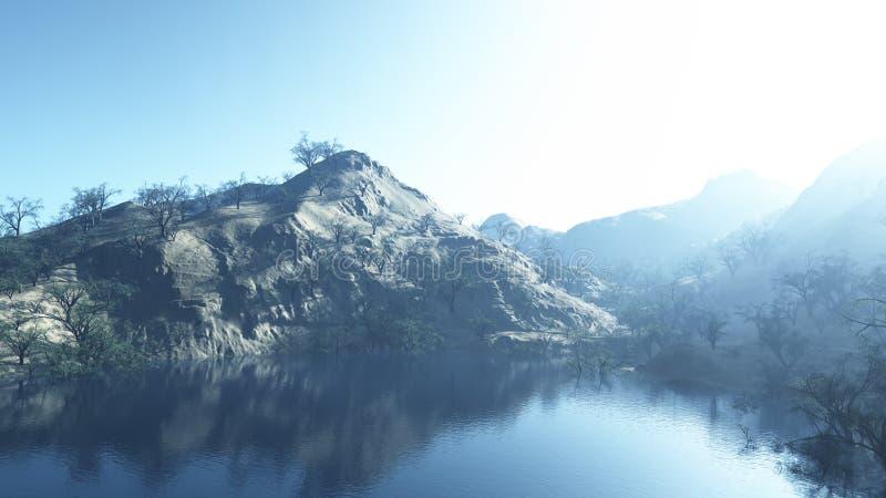 paisagem 3d/painted foto de stock