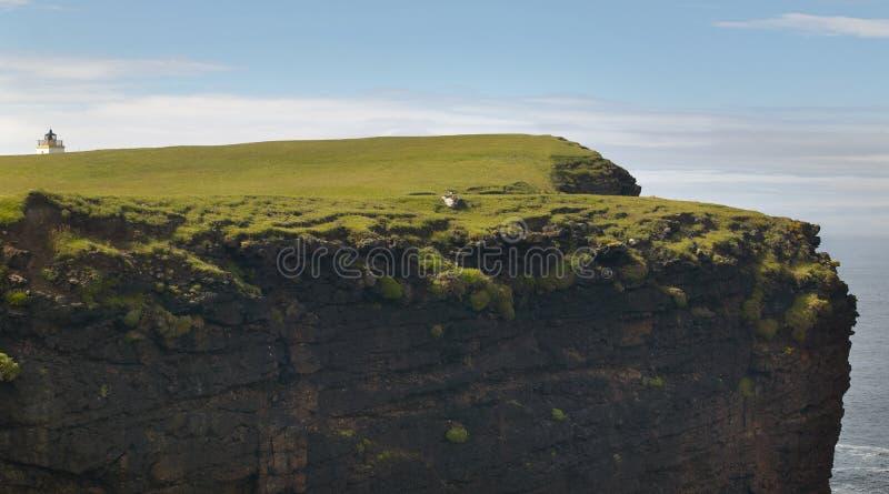 Paisagem escocesa do litoral em ilhas de Shetland scotland Reino Unido fotografia de stock
