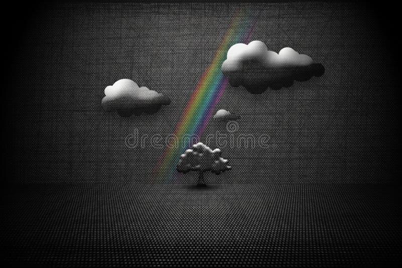 Download Paisagem Escura Abstrata Com Uma árvore Solitária Ilustração Stock - Ilustração de heaven, nave: 26524739