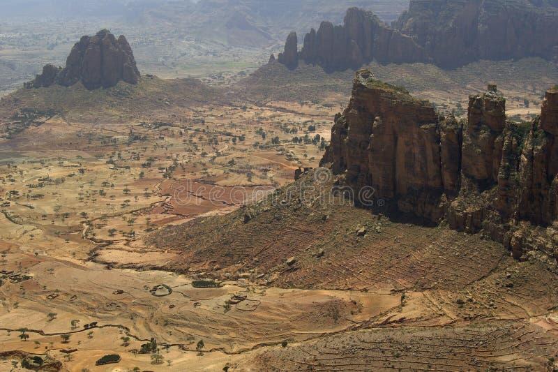 Paisagem etíope fotografia de stock
