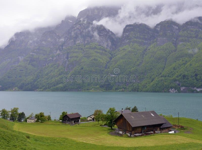 Paisagem excitante de Suíça imagens de stock royalty free