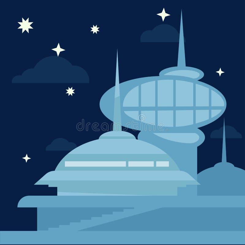 Paisagem futura da cidade Vetor moderno ilustração do vetor