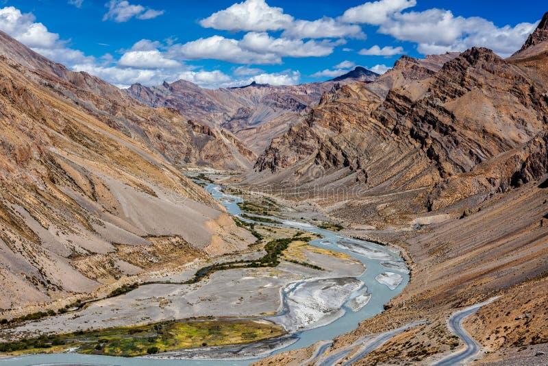 Paisagem Himalaia, Ladakh, Índia fotos de stock royalty free