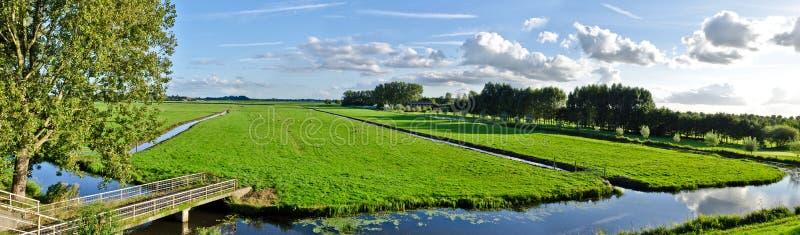 Paisagem holandesa do panorama foto de stock