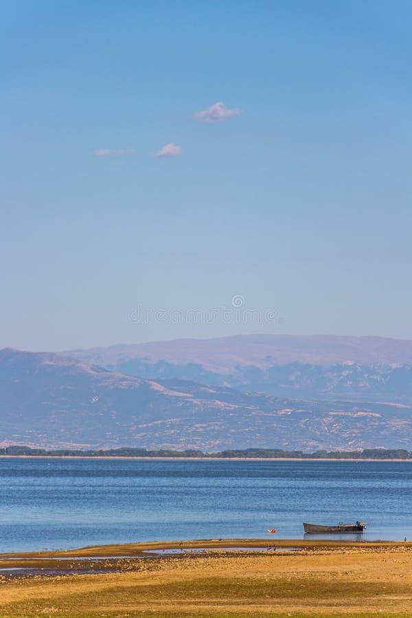Paisagem idílico no lago Kerkini, Grécia foto de stock