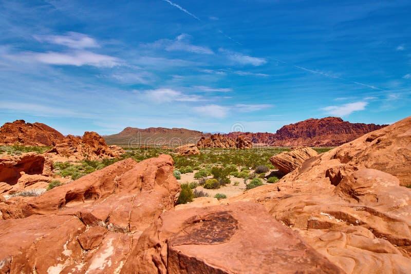 Paisagem Incredibly bonita em Nevada do sul, vale do parque estadual do fogo, EUA foto de stock royalty free