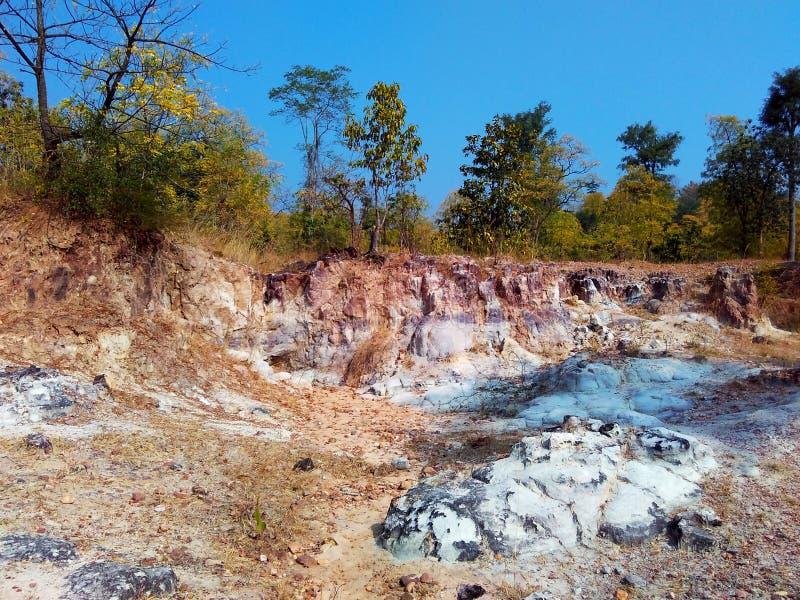 Paisagem india da floresta de Satpura imagem de stock royalty free