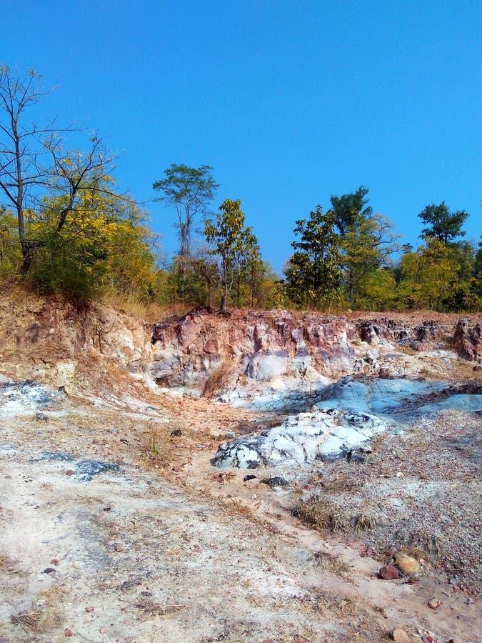 Paisagem india da floresta de Satpura foto de stock royalty free
