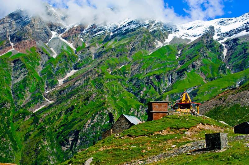 Paisagem indiana de Himalaya fotografia de stock