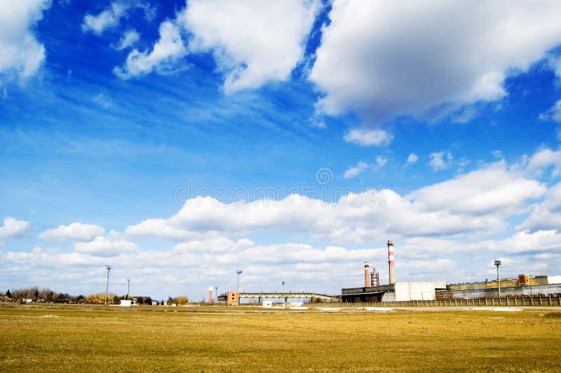 A paisagem industrial. foto de stock royalty free