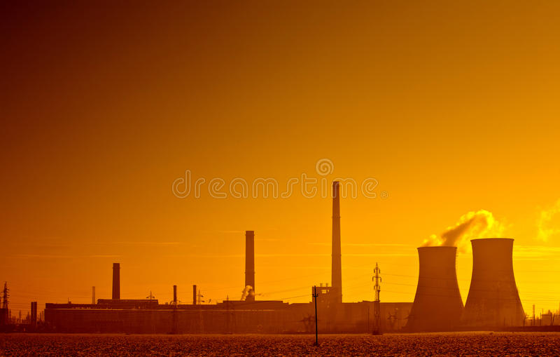Paisagem industrial imagens de stock royalty free