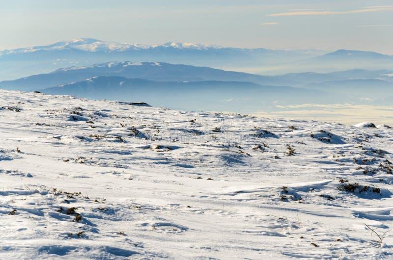 Paisagem invernal da montanha foto de stock royalty free