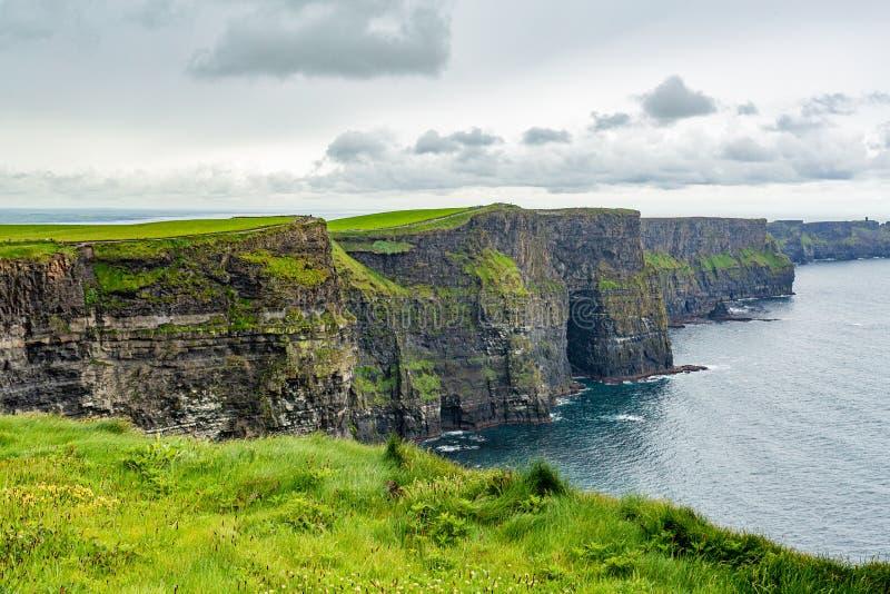 Paisagem irlandesa bonita dos penhascos de Moher imagem de stock royalty free