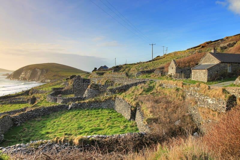 Paisagem irlandesa no dingle - Ireland. fotografia de stock royalty free