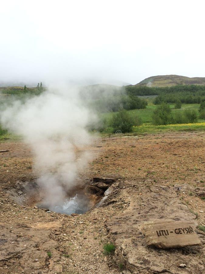 Paisagem islandêsa, terras vulcânicas fotografia de stock royalty free