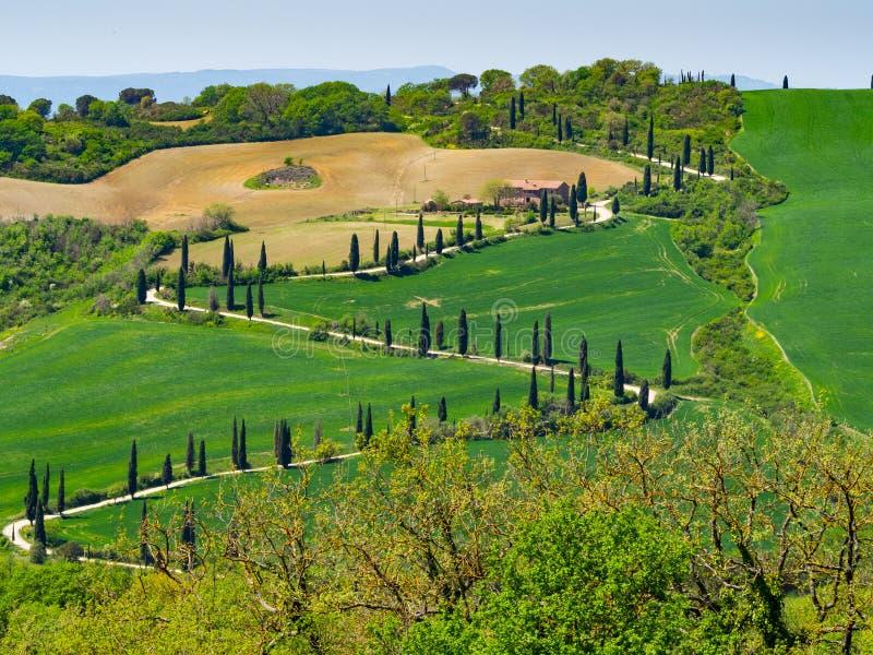 Paisagem italiana rural na primavera imagem de stock royalty free