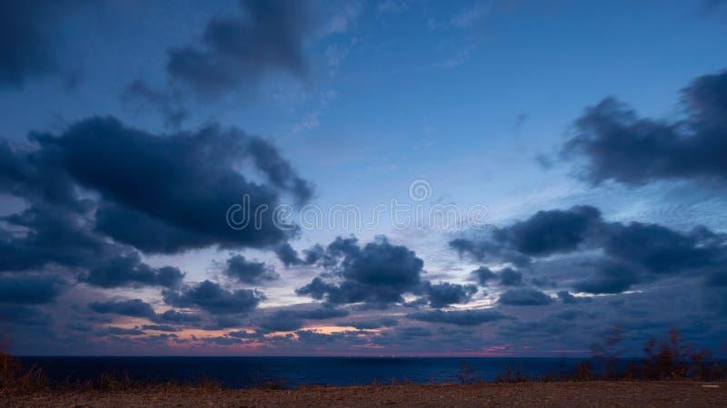 Paisagem linda sobre o mar Negro imagens de stock