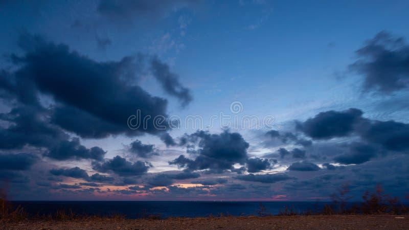 Paisagem linda sobre o mar Negro imagem de stock royalty free