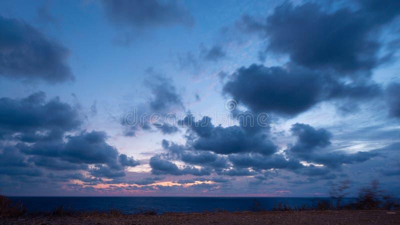 Paisagem linda sobre o mar Negro foto de stock royalty free