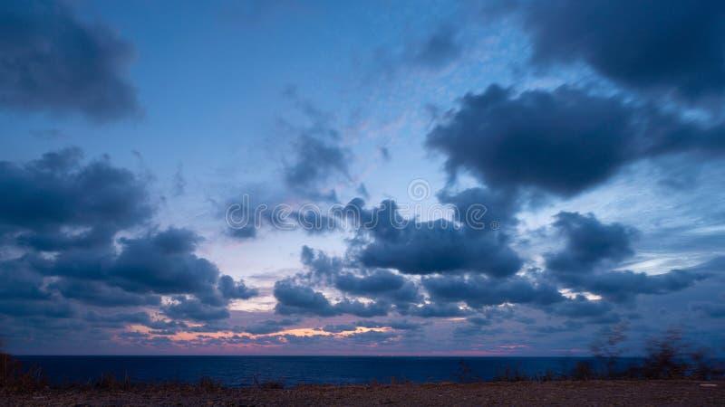 Paisagem linda sobre o mar Negro fotografia de stock royalty free