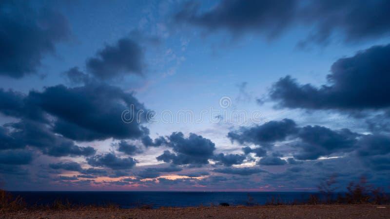 Paisagem linda sobre o mar Negro fotos de stock royalty free