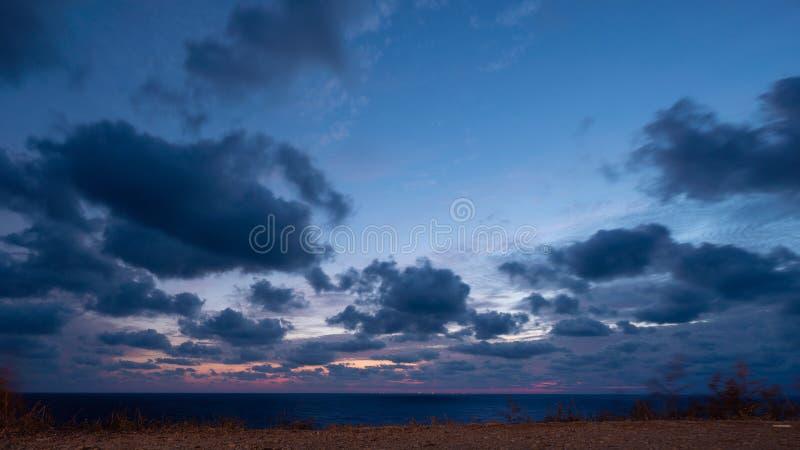 Paisagem linda sobre o mar Negro foto de stock