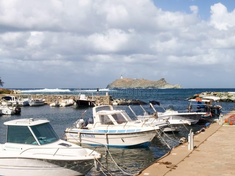 Paisagem litoral e floresta de Cap Corse imagem de stock royalty free