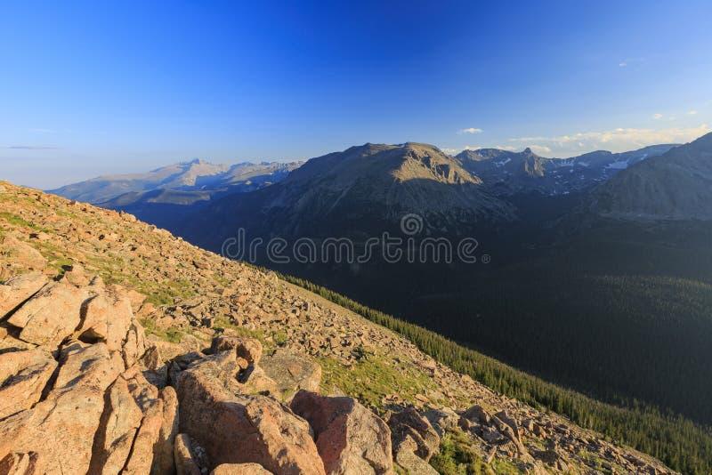 Paisagem magnífica em Rocky Mountain National Park imagem de stock