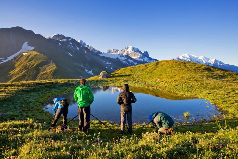 Paisagem majestosa com as montanhas famosas da dolomite, Itália Europa que aturde o cenário da natureza e do destino pitoresco do imagens de stock