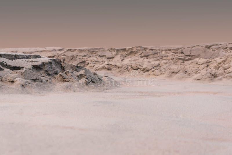 Paisagem marciana durante uma tempestade da poeira imagem de stock royalty free
