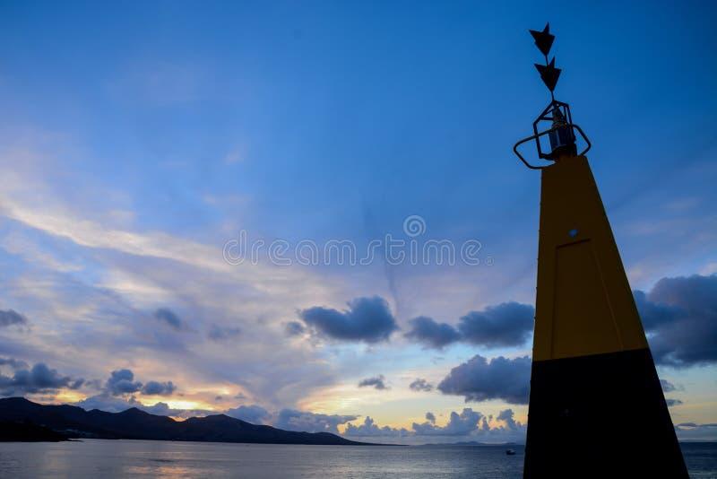 Paisagem na Espanha vulcânica tropical das Ilhas Canárias imagem de stock royalty free