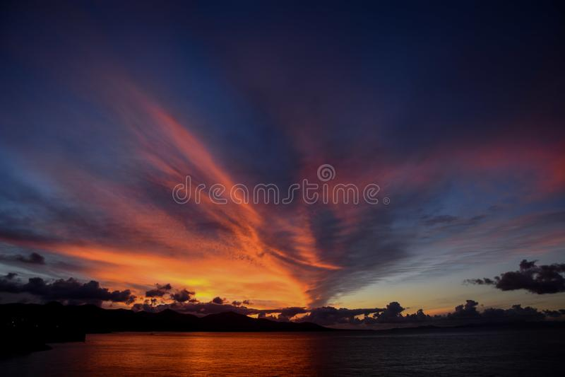 Paisagem na Espanha vulcânica tropical das Ilhas Canárias foto de stock royalty free