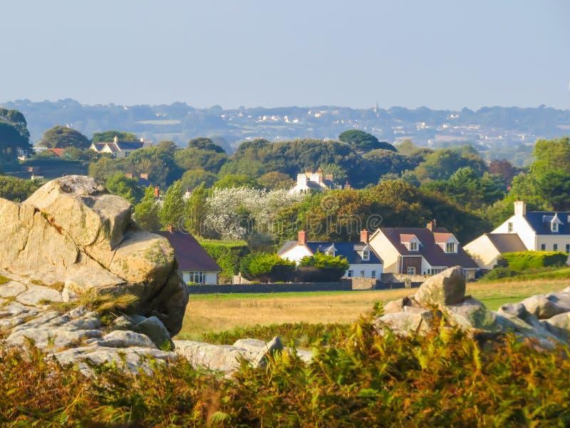 Paisagem na ilha de Guernsey imagem de stock