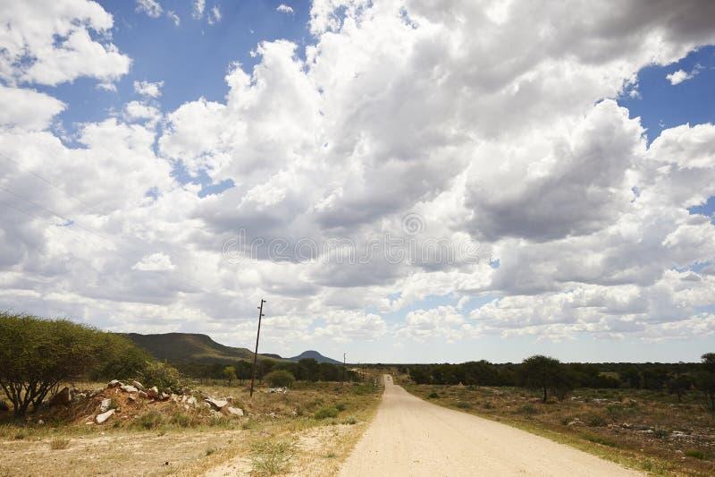 Paisagem namibiana foto de stock