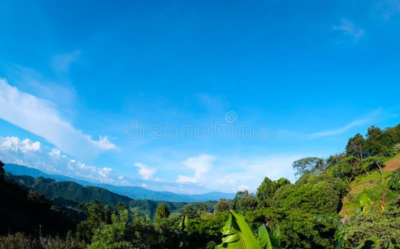 Paisagem natural bonita em Doi Mae Salong Chiang Rai fotografia de stock royalty free