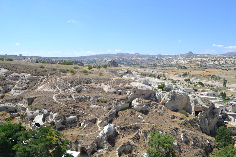 A paisagem natural da região de Cappadocia fotografia de stock